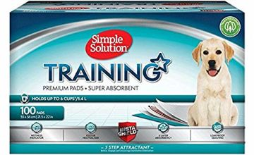 Simple Solution Premium Dog and Puppy Training Pads Pack of 100 - 15% Off