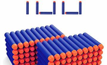 DEWEL 7.2cm Refill Darts Foam Bullet Ammo Pack for Nerf N-st