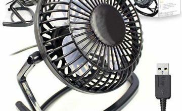 Orzly Mini Table Silent Desk Fan