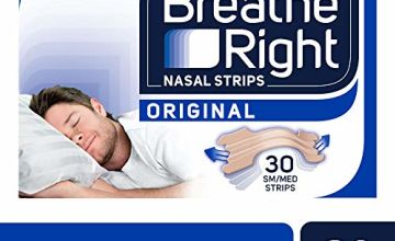 Save on Breathe Right Snoring Congestion Relief Nasal Strips, Small/Medium, Original, 30 Strips and more