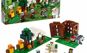 LEGO 21159 Minecraft The Pillager Outpost Action Figures Building Set, Iron Golem Adventure Toy for Kids 7+ Years Old