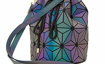 Fashion Top-Handle Women Geometric Luminous Holographic Purs
