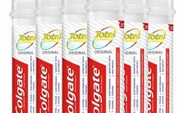 Colgate Total Original Antibacterial Toothpaste Pump 6 x 100 ml Multipack