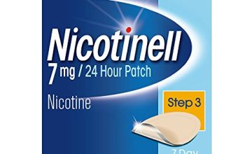 Save on Nicotinell Nicotine Patch, Quit Smoking Aid Step 3, 24 Hour Patch, 7 mg, Pack of 7 and more