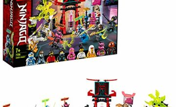 LEGO 71708 NINJAGO Gamer's Market Nine Minifigures Set with Digi Jay, Avatar Pink Zane and Avatar Harumi
