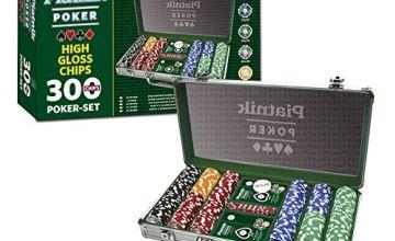 """Piatnik 7903 """"300 Chips - High Gloss Poker Set in Aluminum Case"""