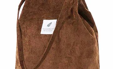 Corduroy Tote Bag,ZhengYue Women's Canvas Shoulder Handbags