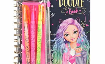 Depesche 10273 Colouring Book Neon Doodle Book with 3 Pens Multi-Coloured