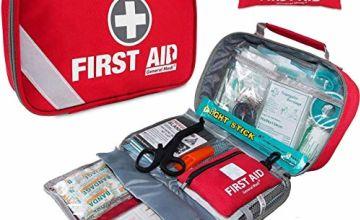First Aid Kit (215 Piece) + Bonus 43 Piece Mini First Aid Kit