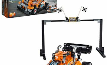 LEGO 42104 Technic Race Truck Toy to Racing Car 2-in-1 Model, Pull-Back Motor, Racer Vehicles Collection