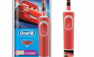 Oral-B Stages Power Kids Electric Rechargeable Toothbrush with Disney Pixar Cars Characters, 1 Handle, 1 Brush Head, UK 2 Pin Plug for Ages 3+ (Packaging May Vary)