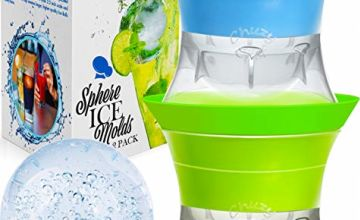 Ice Ball Maker Sphere Mold - Set of 2 Round Shapes Silicone