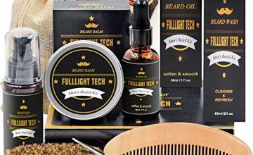 Beard Kit for Men Grooming & Care W/Beard Shampoo Oil Balm