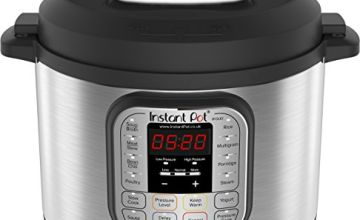 Instant Pot Duo 7-in-1 Electric Pressure Cooker, 6 Qt, 5.7 Litre, 1000 W, Brushed Stainless Steel/Black