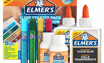 Save on Elmer's Glue Slime Starter Kit, Clear Glue, Glitter Glue Pens and Magical Liquid Slime Activator Solution, Count of 8 and more