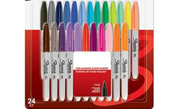 Save on Sharpie Permanent Markers   Fine Point   Assorted Colours   24 Count and more