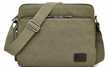 CHEREEKI Messenger Bag, Canvas Bag Shoulder Bag Satchel Bag