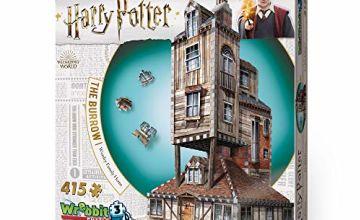 Wrebbit 3D Puzzle Harry Potter -  The Burrow Weasley Family Home 3D Puzzle (415-Piece)