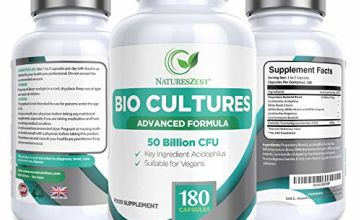 Natures Zest 50 Billion CFU Bio Cultures with Prebiotics 180