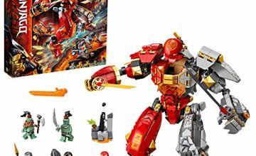 LEGO 71720 NINJAGO Fire Stone Mech Toy, Ninja Action Figure