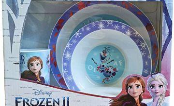 Disney 1546 1622 Frozen II 3 Piece PP Tableware Set, Plastic