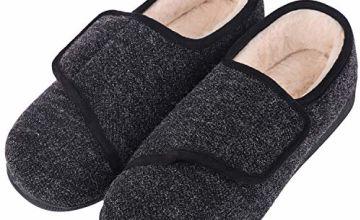 LongBay Women's Wide Fit Memory Foam Diabetic Slippers Comfy
