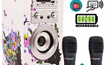 DYNASONIC - Bluetooth Portable Karaoke Speaker