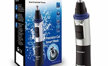 Panasonic ER-GN30 Wet and Dry Electric Nose, Ear and Facial Hair Trimmer for Men