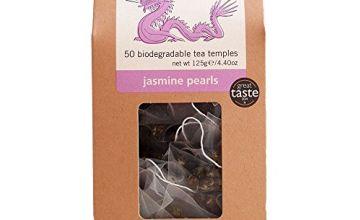 Teapigs Jasmine Pearls Tea Bags Made with Whole Leaves(1 Pack of 50 Tea Bags)