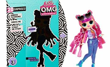 L.O.L. Surprise! Collectable Fashion Dolls for Girls - With 20 Surprises & Accessories - Roller Chick - O.M.G. Series 3