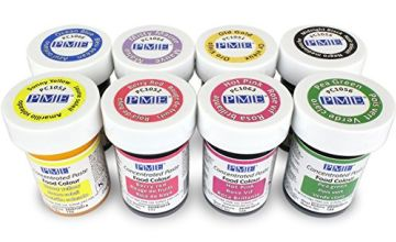 PME Concentrated Paste Colours for Icing, Sugarpaste, Fondant and Much More (Set of 8), 8 x 25 g (⅞ oz) pot