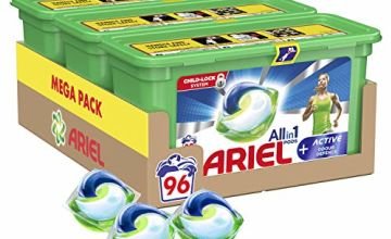 Save on Ariel All-in-One Pods Washing Liquid Detergent Capsules, 96 Laundry Pods with Active Odour Defence and more
