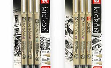 Sakura Pigma Micron - Pigment Fineliner Pens - 0.1/0.5mm/Bru