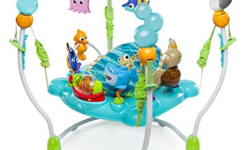 Finding Nemo Sea of Activities Jumper Packed with 13 Activities, Fun Lights, Music and Ocean Sounds!,Blue,60701