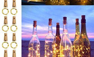 [5 Modes & Timer] KooPower Wine Bottle Lights, 10 Sets 2M 20