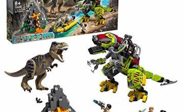 LEGO 75938 Jurassic World T. Rex vs Dino-Mech Battle Action Figures, Mighty Dinosaurs Toys for Kids