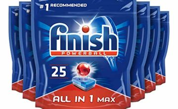 Finish All in 1 Max 150 Dishwasher Tablets Regular (Pack of 6)