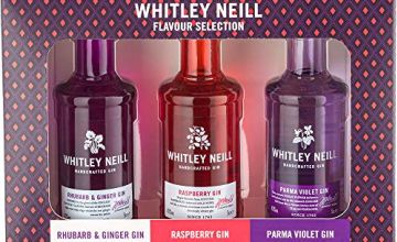 Over 15% off Whitley Neill Flavoured Gin Gift Pack, Whitley Neill Handcrafted Rhubarb and Ginger Gin Glass Gift Pack, 70 cl and more