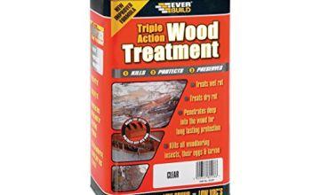 Sika EVBLJUN01 Triple Action Wood Treatment 1 Litre, Clear
