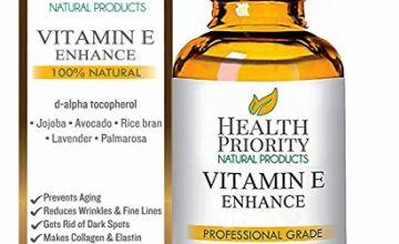 20% off Organic Vitamin E Oil for your Face & Skin