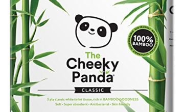 Save on The Cheeky Panda Ultra Sustainable Hypoallergenic 100% Bamboo Toilet Roll Pack of 45 and more