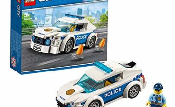 LEGO 60239 City Police Police Patrol Car Car Toy with Policeman Minifigure, Chase Vehicle Sets for Kids