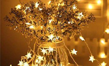 REGO Star LED String Lights - 70 LED 33 FT Twinkle Star Fair