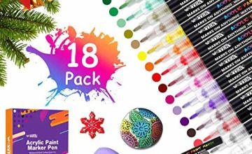 Quick Drying Acrylic Paint Pens Set