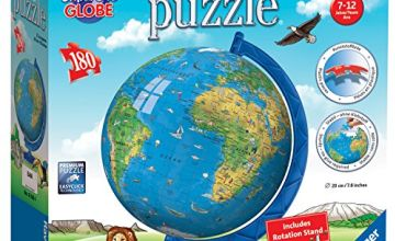Ravensburger 12338 Children's World Globe, 180pc 3D Jigsaw Puzzle, Multicoloured