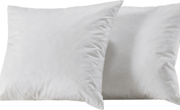 Argos Home Pack of 2 Duck Feather Cushion Pads - 43x43cm