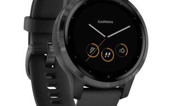 Garmin Vivoactive 4 GPS Smart Watch - Black / Gunmetal