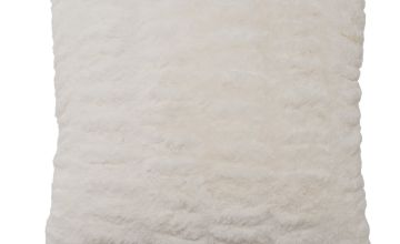 Argos Home Winter's Cabin Fur Cushion - White