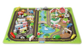 Melissa and Doug Deluxe Road Rug Playset