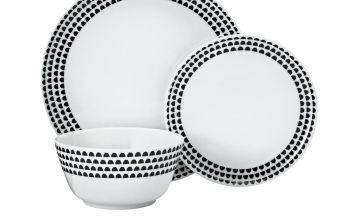 Argos Home Noir Printed 12 Piece Dinner Set